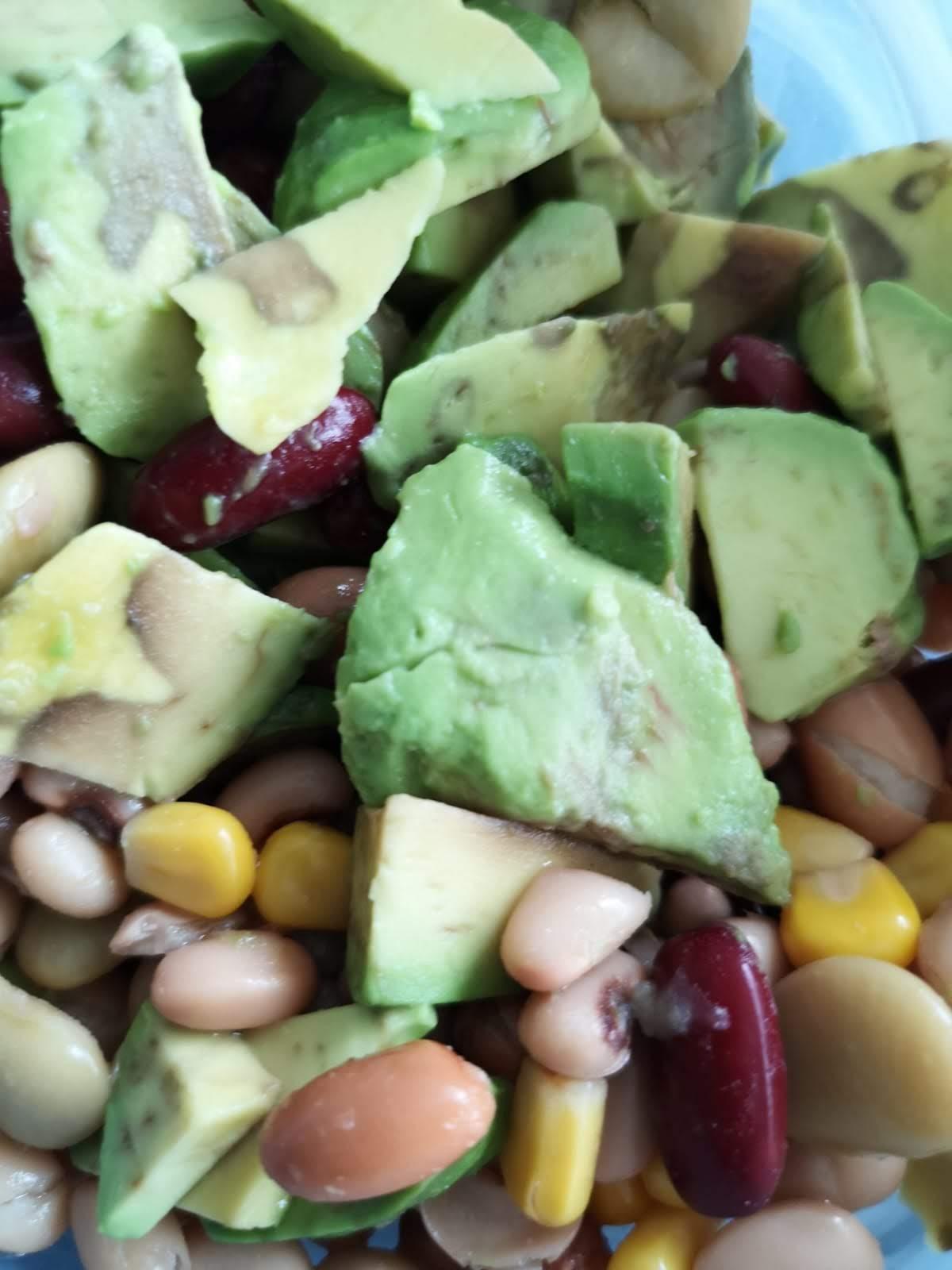 Mixed Bean and Avacado Salad